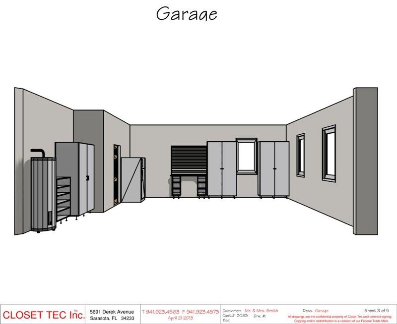 Garage Cabinet 3d Cad Design Closet Tec Inc