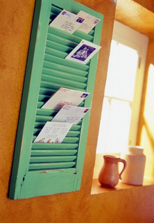 Window Shutter - Mailbox - DIY Home Solutions - Closet Tec Inc - Source [http://indulgy.com/post/S7cmw1cQE1/cheap-organization#/do/page/1]