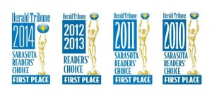 Sarasota Herald Tribune Readers Choice Awards gives award to Closet Tec for best closet company in Sarasota, FL.