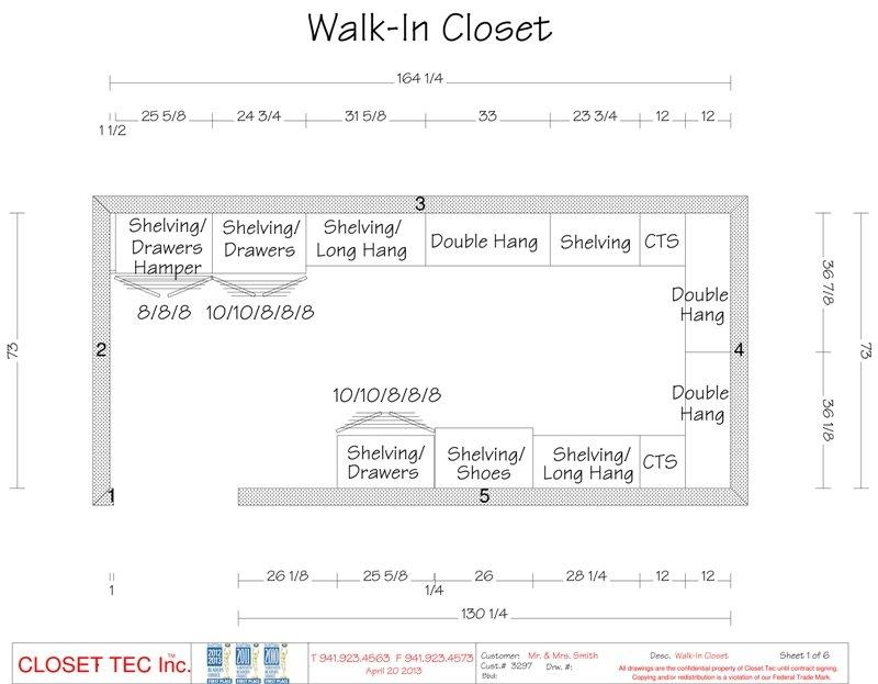 Walk In Closet 3d Cad Design Closet Tec Inc
