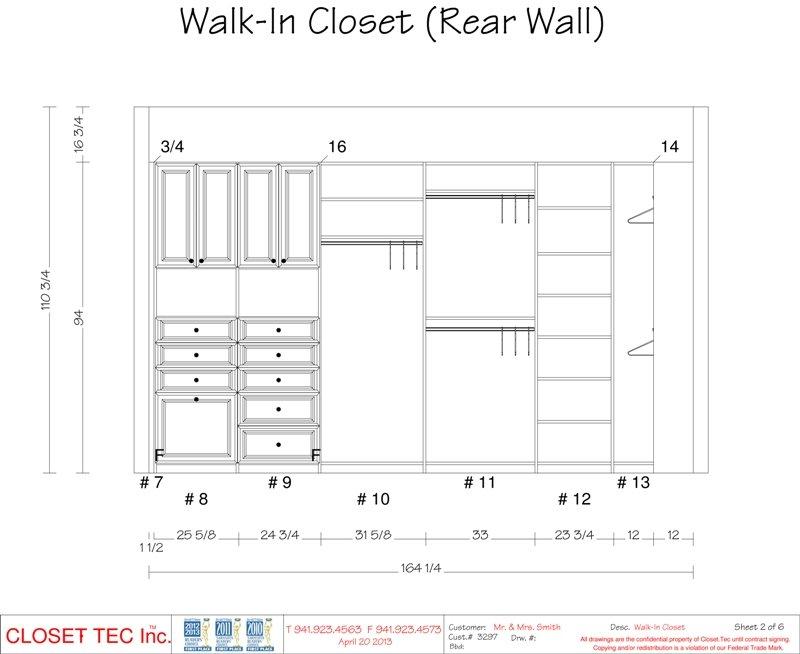 Walk-In Closet 3D CAD Design   Closet Tec, Inc